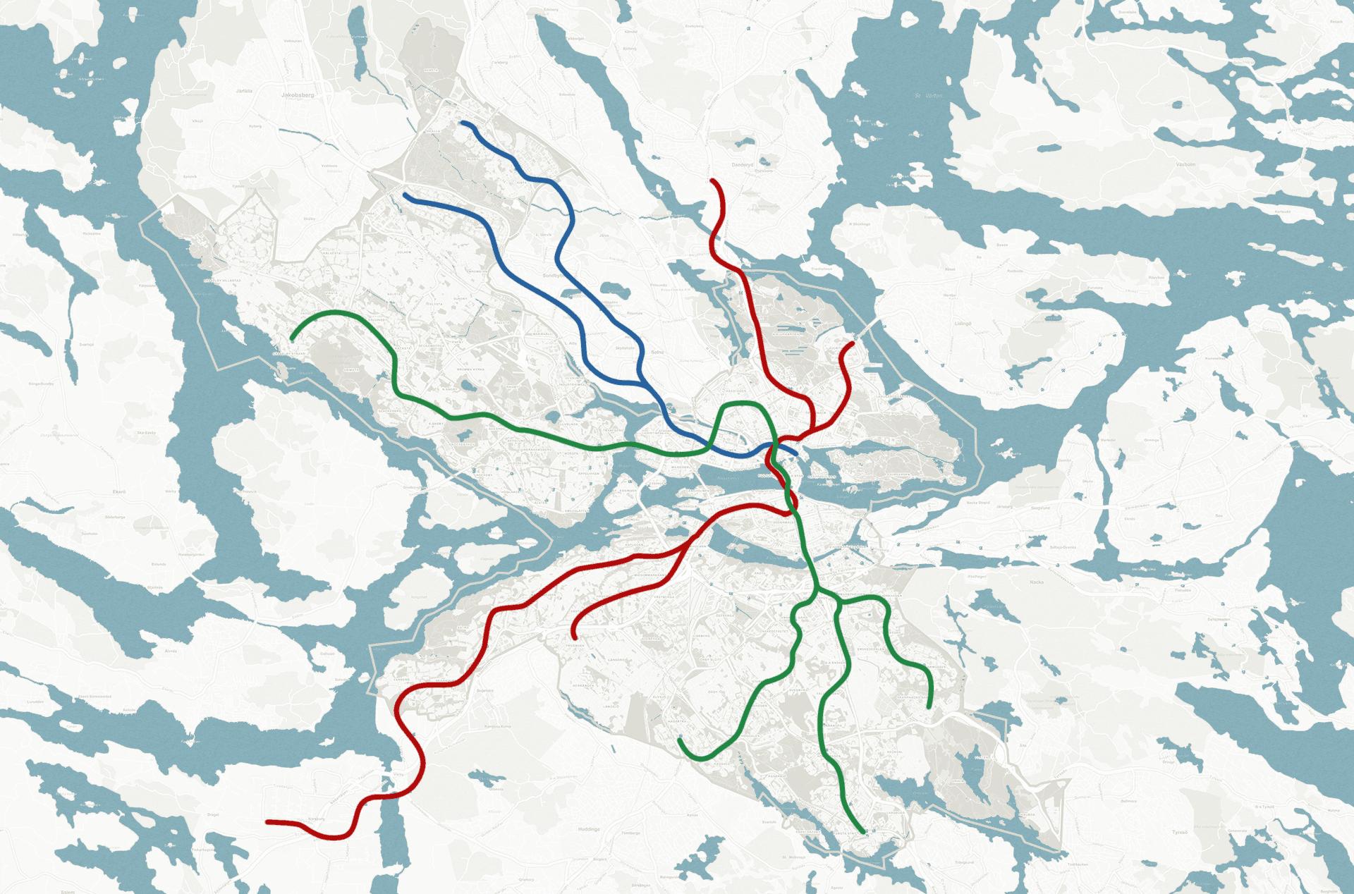 tunnelbana karta över stockholm Tunnelbanan | Stockholm 2014–2025 tunnelbana karta över stockholm